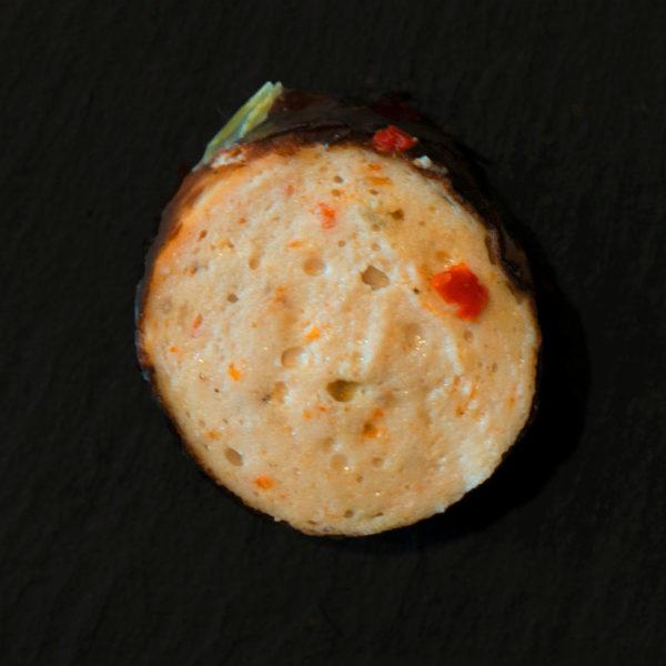 Paprikagriller aufgeschnitten