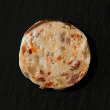 Pizzagriller aufgeschnitten