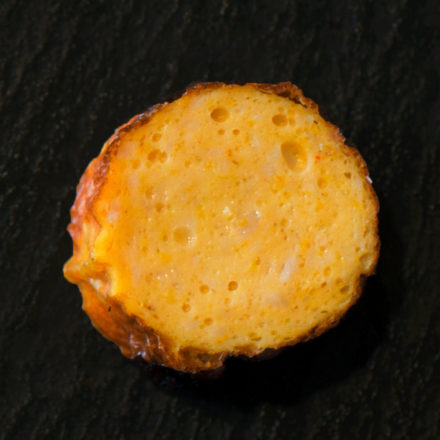 Poulet-Currygriller aufgeschnitten