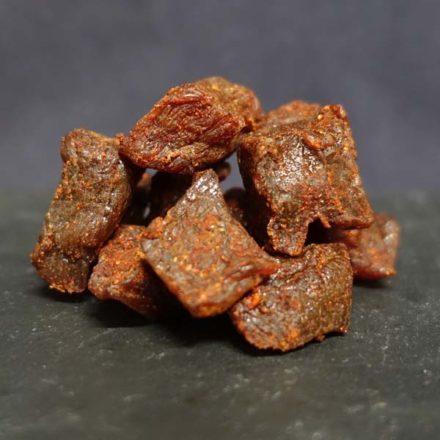 Der edle, sorgfältig getrocknete Schweinefilet-Imbiss: So macht Pic-Nic saumässig Spass! Piggets mit Chili verfeinert sind die Zwischenverpflegung am See oder in den Bergen.