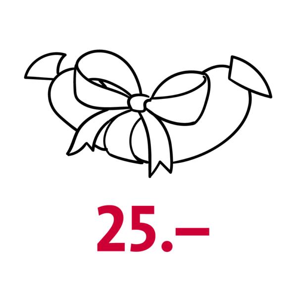Gutschein Wert CHF 25.–